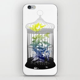 Green Finches iPhone Skin