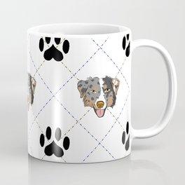 Australian Shepherd Paw Print Pattern Coffee Mug
