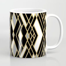 Art Deco Grey Gold Mug
