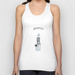 a girl sits and dreams Unisex Tank Top