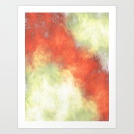Fire Storm in Orange and Yellow Abstract Art Print