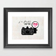 J'ai flashé sur toi Framed Art Print