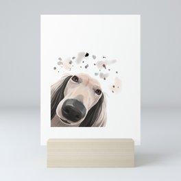 Curious Saluki Dog Mini Art Print