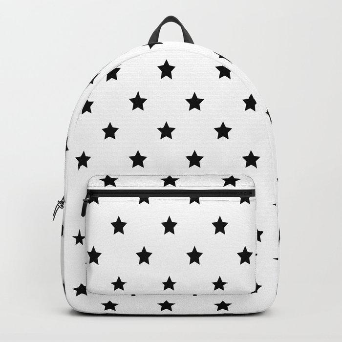 Black and white Star Pattern Rucksack