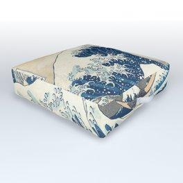 The Great Wave off Kanagawa Outdoor Floor Cushion
