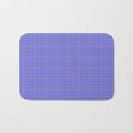 Blue Gingham Bath Mat