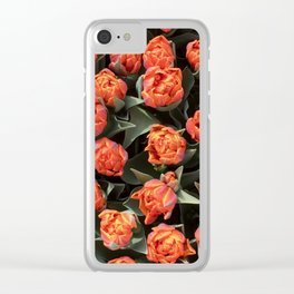 Tulips on fire Clear iPhone Case