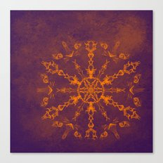 Fire wheel kaleidoscope Canvas Print