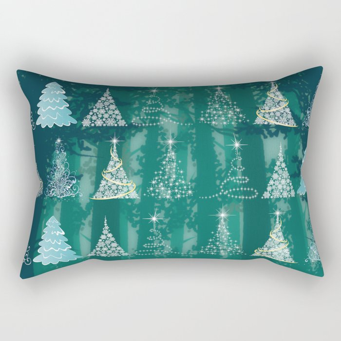 Christmas tree in the forest Rectangular Pillow