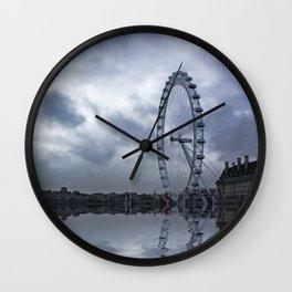 Reflected Eye Wall Clock