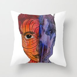 scared to turn blue Throw Pillow