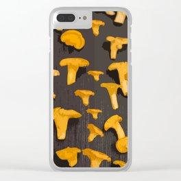 Chantterelles On A Dark Grey Background - Autumn Harvest - #Society6 #buyart Clear iPhone Case
