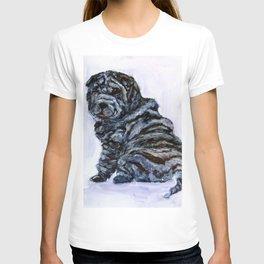 Black Shar Pei Love T-shirt
