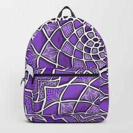 12-Fold Mandala Flower in Purple Backpack