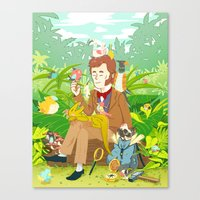 darwin Canvas Prints featuring Young Darwin by Supuru