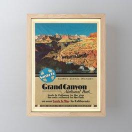 retro Grand Canyon Framed Mini Art Print