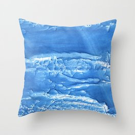 Corn flower blue abstract watercolor painting Throw Pillow