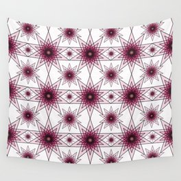 Double Pentagrams Wall Tapestry