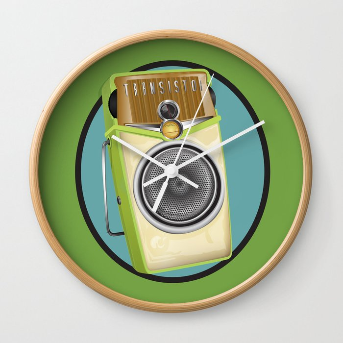 Transistor Radio Flash Card Wall Clock