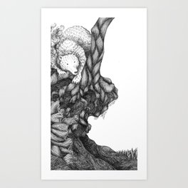 Bear in forest Art Print