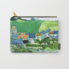 12,000pixel-500dpi - Vincent van Gogh - View Of Auvers - Digital Remastered Edition Carry-All Pouch