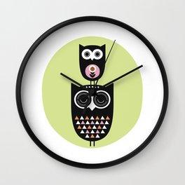 Owl nursery art Wall Clock