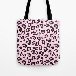Leopard Print - Pink Chocolate Tote Bag