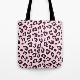 Leopard Print - Pink Chocolate Tote Bag