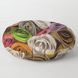 Colorful Quilled Paper Art by Daniel MacGregor Floor Pillow