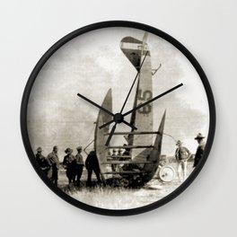 Plane crash Wall Clock