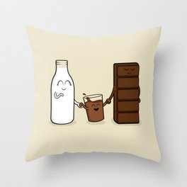 Chocolate + Milk Throw Pillow