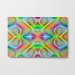Softly rainbow plastic Metal Print