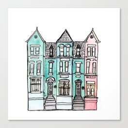 DC Row House No. 2 II U Street Canvas Print