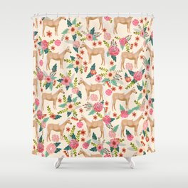 Palomino Horse floral farm nature animal horse lovers ponies florals Shower Curtain