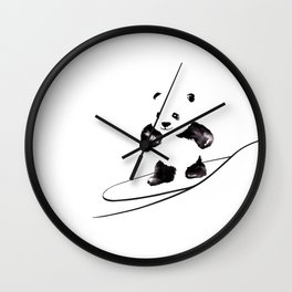 Surfing Panda Wall Clock