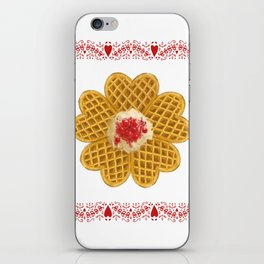 Swedish Waffles iPhone Skin