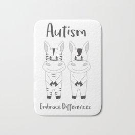 Autism Embrace Differences Bath Mat