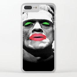 Frankenstein Drag Clear iPhone Case