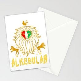 AFRICAN LION RBG ANKH Alkebulan KEMETIC Clothing Stationery Cards