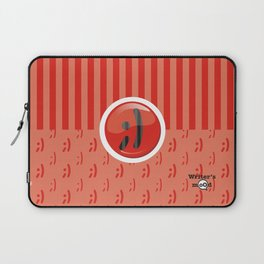 Red Writer's Mood Laptop Sleeve