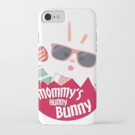 Mom Hunny Bunny Easter Funny Boys Girls Men Women iPhone Case