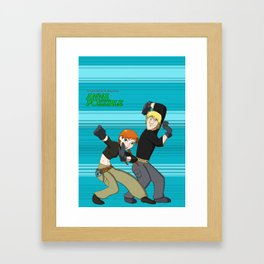 Anna and Kristoff as Kim Possible and Ron Stoppable-Portrait Framed Art Print