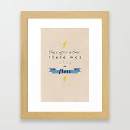 there was a boy who flew Framed Art Print