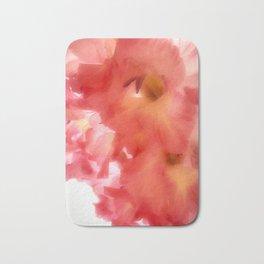 Soft Red Gladiola Bath Mat