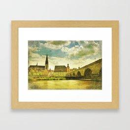 Regensburg. iPhonographie Framed Art Print
