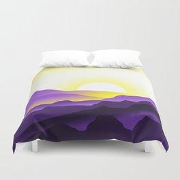 Nonbinary Pride Sunrise Landscape Duvet Cover