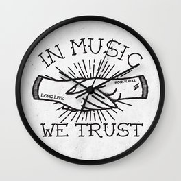 In Music We Trust Wall Clock
