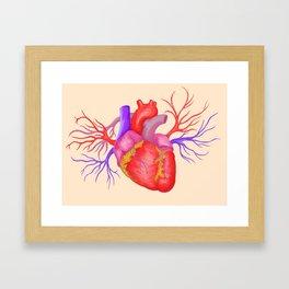 Heart On Framed Art Print