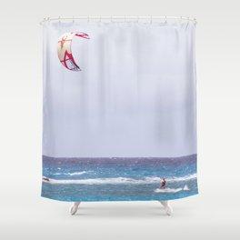 kite surfin' Shower Curtain