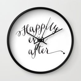 {Happily ever after} Wall Clock